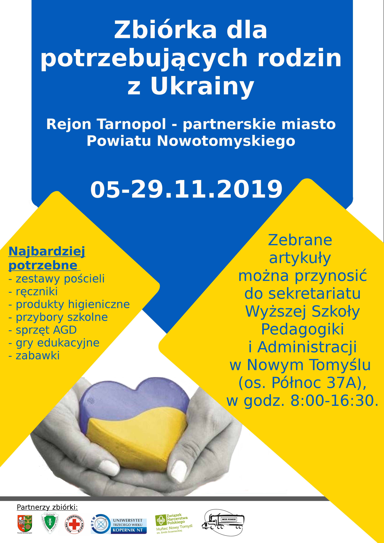 Ilustracja do informacji: Zbiórka dla potrzebujących rodzin z Ukrainy