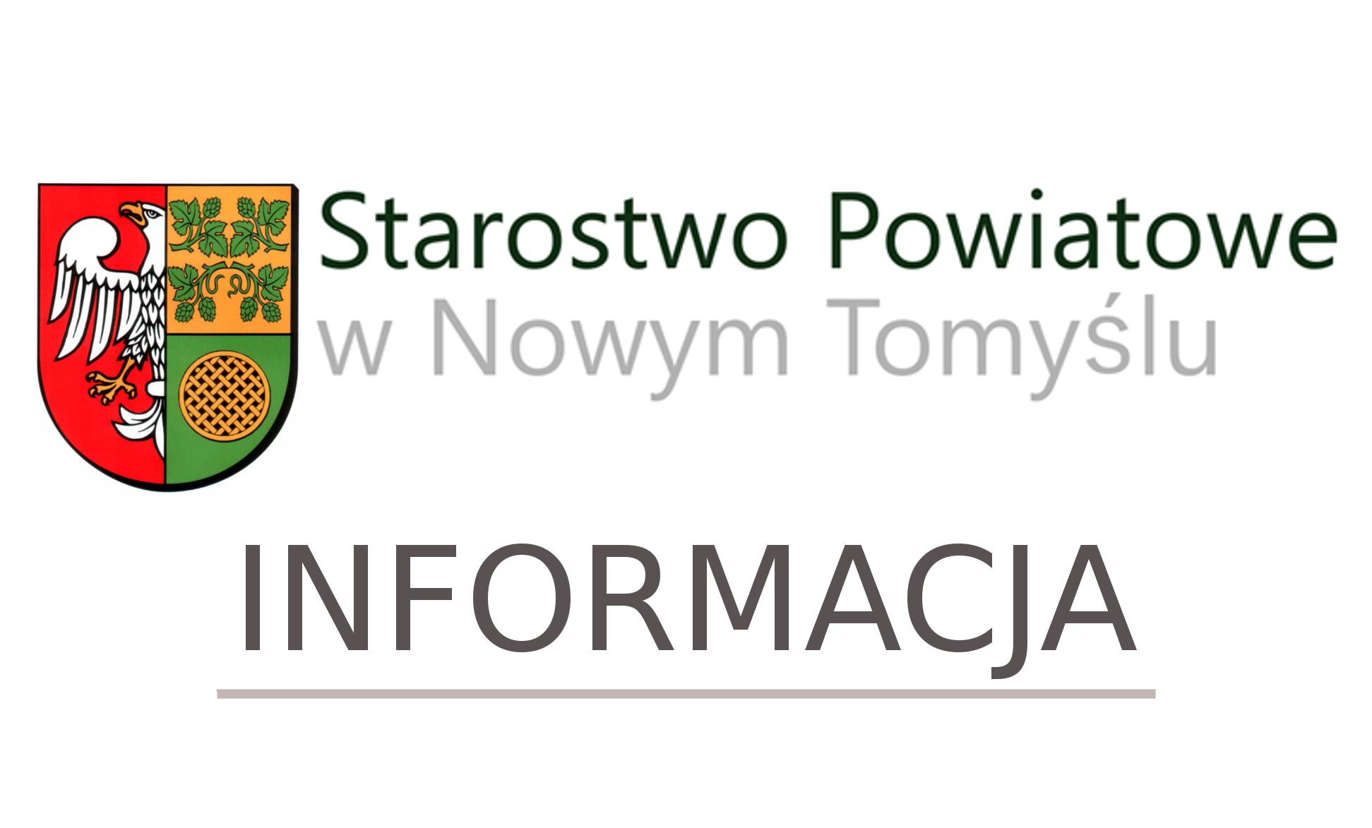 Ilustracja do informacji: Informacja Zarządu Powiatu Nowotomyskiego