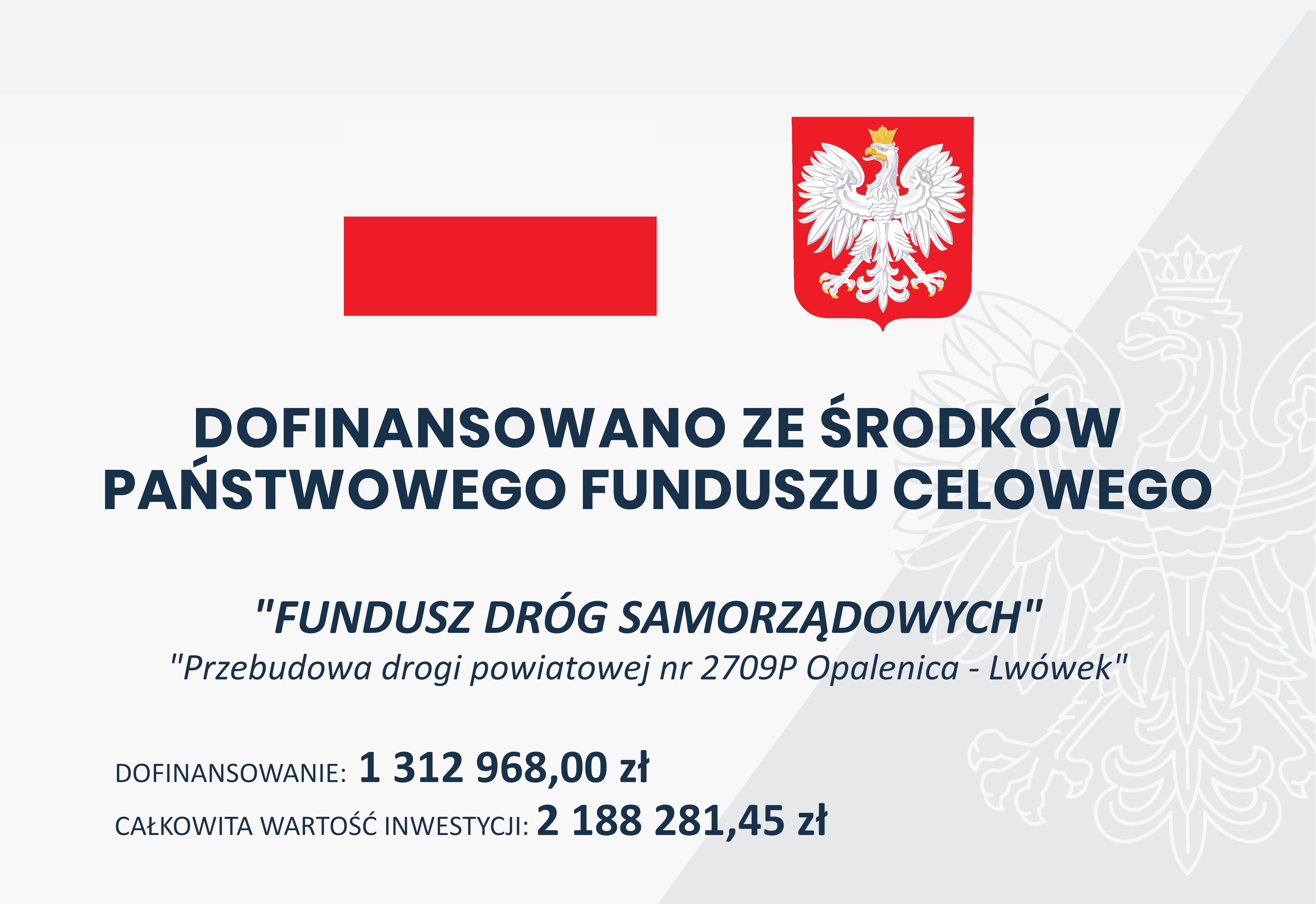 Ilustracja do informacji: Przebudowa drogi powiatowej nr 2709P Opalenica - Lwówek