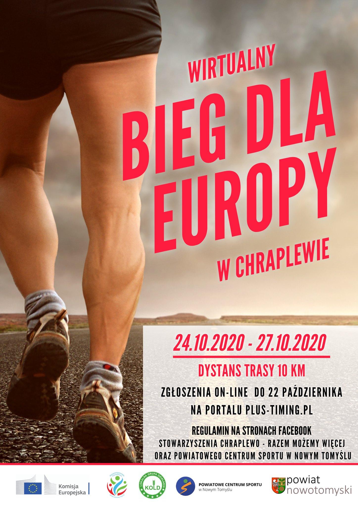 Ilustracja do informacji: Pierwszy wirtualny Bieg dla Europy