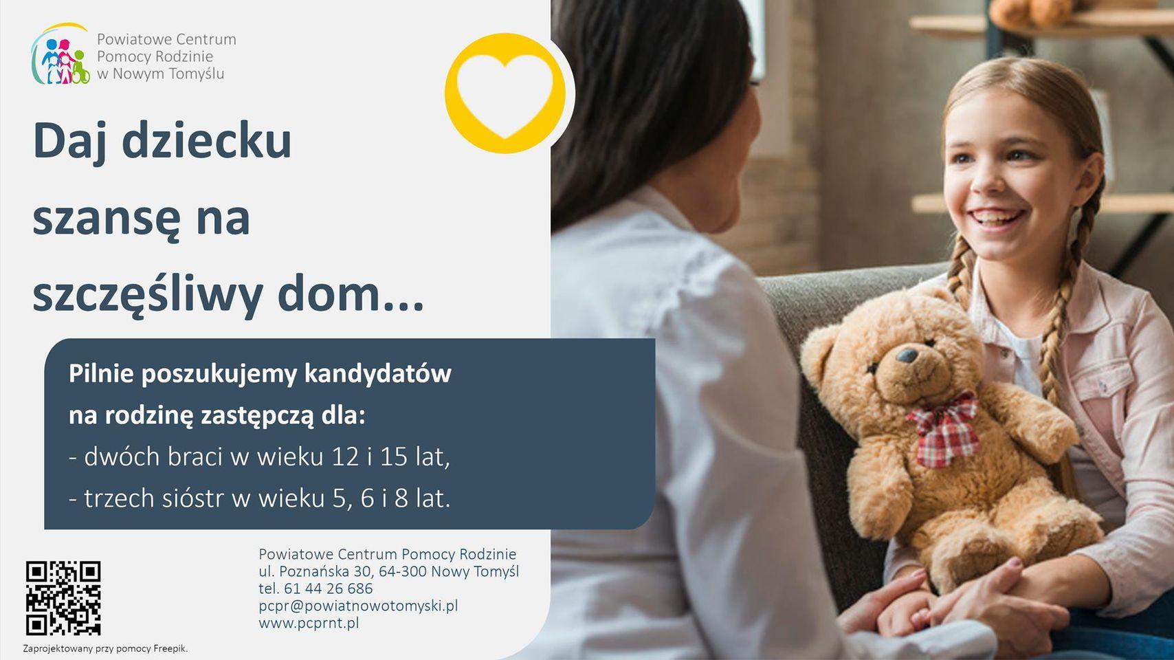 Ilustracja do informacji: Daj dziecku szansę na szczęśliwy dom