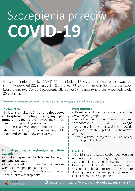 Ilustracja do informacji: Ruszają szczepienia przeciw COVID-19