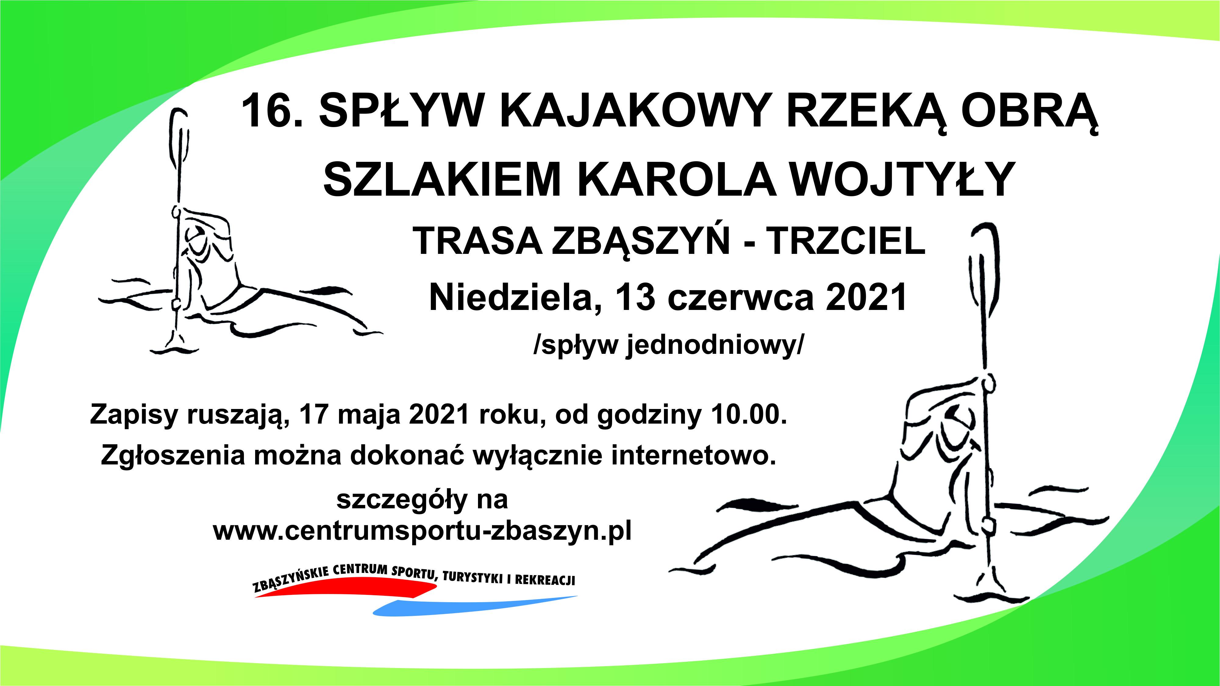 Ilustracja do informacji: Spływ Kajakowy Szlakiem Karola Wojtyły